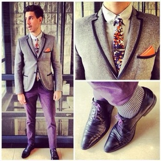 coat purple shoes purple jeans hipster hipster menswear blazer shoes style