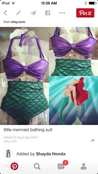 swimwear mermaid swim bra and bottom