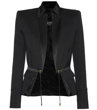 jacket cotton silk satin black