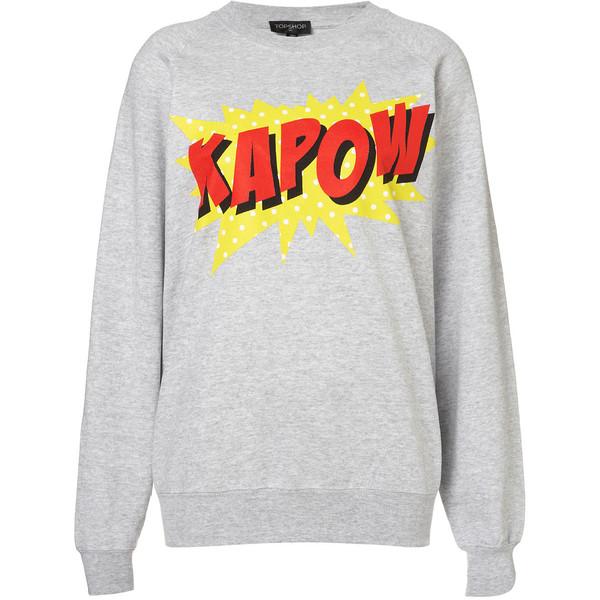 TOPSHOP KAPOW! Sweat - Polyvore