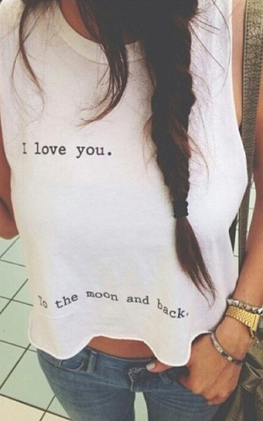 top i love you to the moon and back shirt