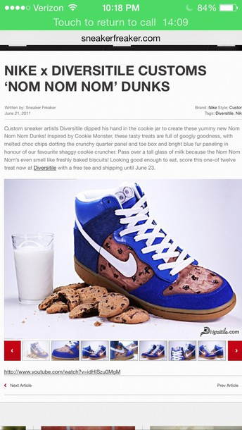 shoes cookiemoster