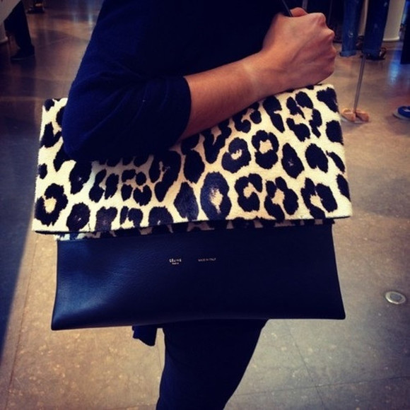 bag clutch tote bag leopard print handbag fashion style leo accessories