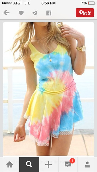 tie dye red yellow blue