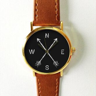 jewels watch handmade style fashion vintage etsy freeforme north east west south arrows directions cardinal direction new summer spring gift ideas