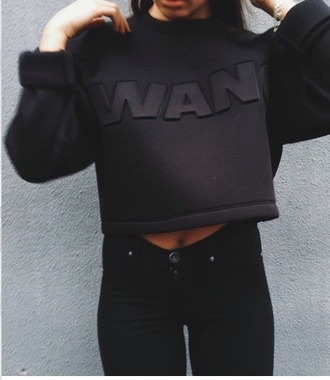 sweater black beautiful alexander wang