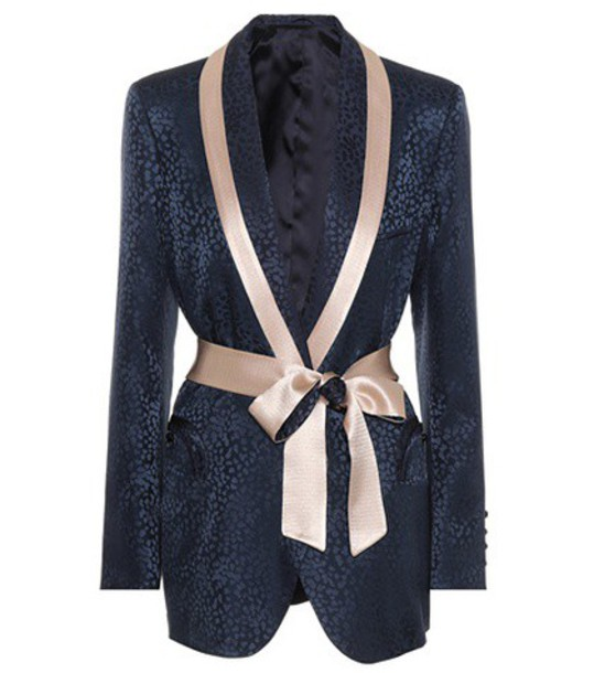 Blazé Milano Exclusive to mytheresa.com – Silk jacquard blazer in blue