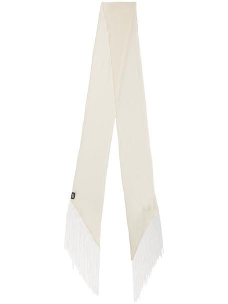 women classic scarf nude silk