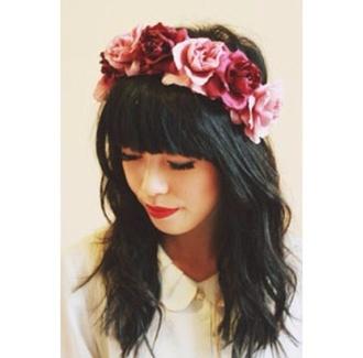 hat rose pink vilolet flower crown crown roses pink