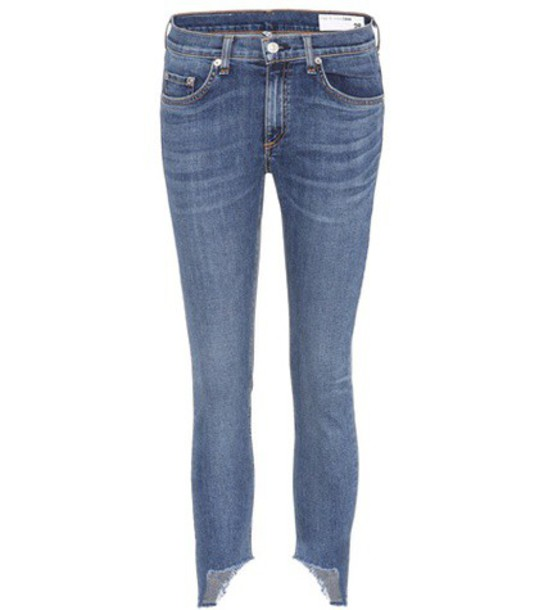 Rag & Bone Capri cropped jeans in blue