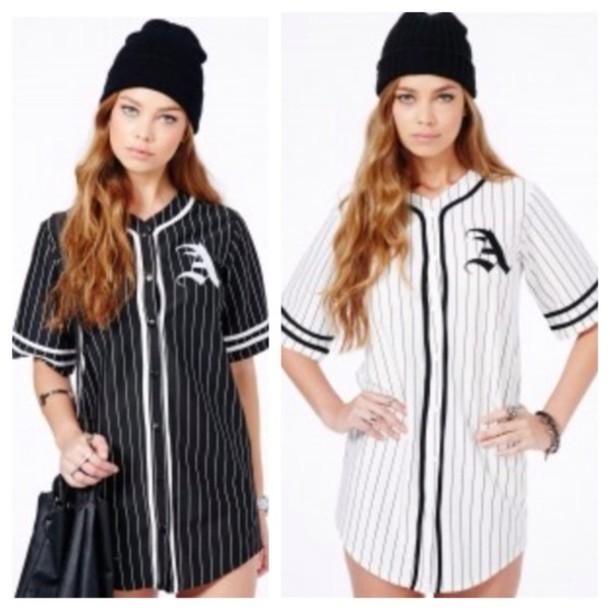 Shirt wheretoget for Baseball jersey shirt dress