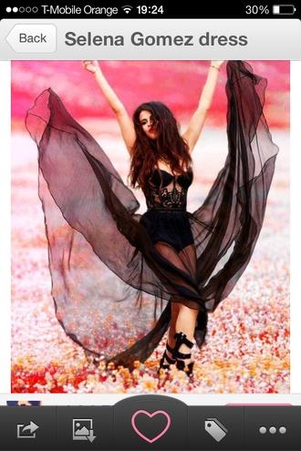 dress selena gomez selena gomez celebrity celeb black mesh lace floral maxi hot pants shorts bustier corset bralette fashion