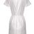 White Short Sleeve V Neck Floral Crochet Dress - Sheinside.com