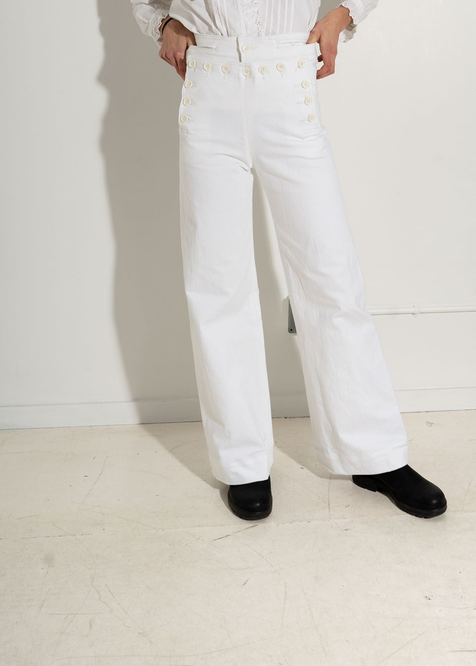 Creatures of Comfort Starr Sailor Pant- White
