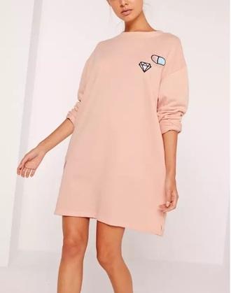 dress pink sweater sweater dress