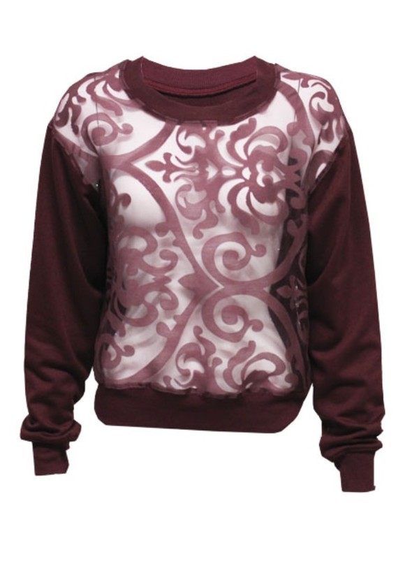 sweater crewneck sweatshirt velvet