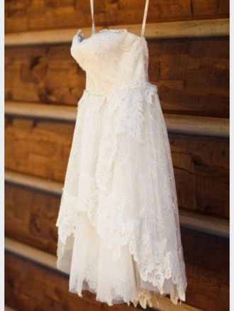 dress white dress wedding dress country wedding ivy and aster short wedding dress