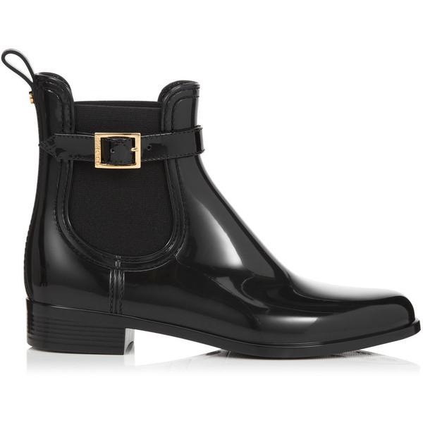 Jimmy Choo Jai Black PVC Rain Boots - Polyvore