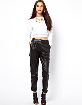 ASOS | ASOS Peg Trouser in Faux Leather at ASOS