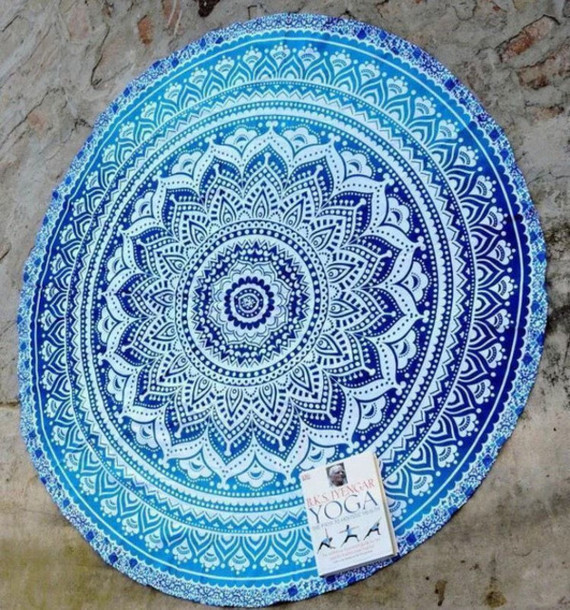 Home Accessory Wall Hanging Tapestry Hippie Table Runner Indian Tapestries  Mandala Ombre Tapestry Hippie Throw Table