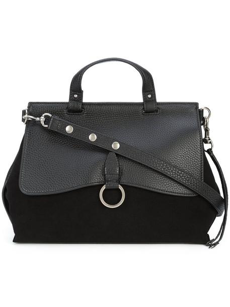 Rebecca Minkoff satchel women leather suede black bag