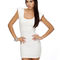 Sexy ivory dress - body con dress - futuristic dress - $34.50