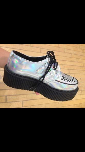 shoes grunge creepers goth pastel goth pastel creepers pastel platforms platform shoes platforms