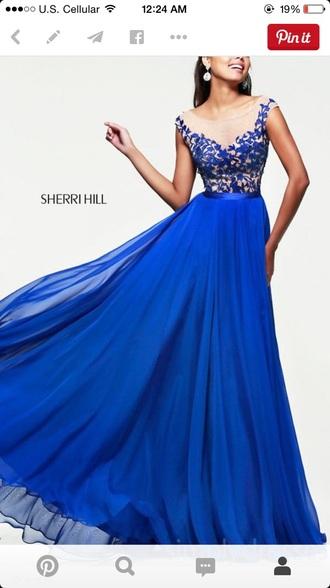 dress sherri hill blue dress