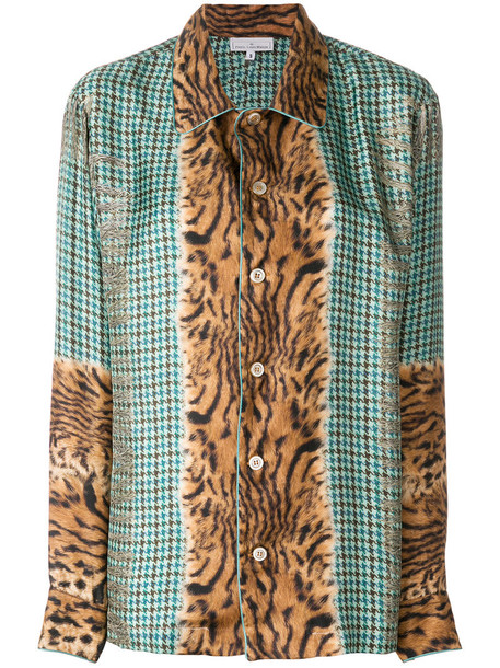 Pierre-Louis Mascia - embroidered fitted blouse - women - Silk - S, Silk