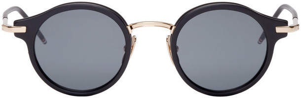 sunglasses round sunglasses gold black black and gold