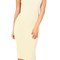 Emprada - beige mock neck midi dress | emprada