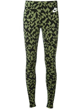 leggings printed leggings women spandex cotton green pants