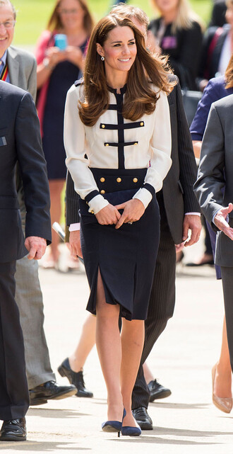 kate middleton skirt blouse