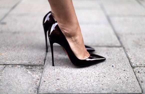 shoes black tumblr black shoes black heels ❤️ black  high heels black pumps