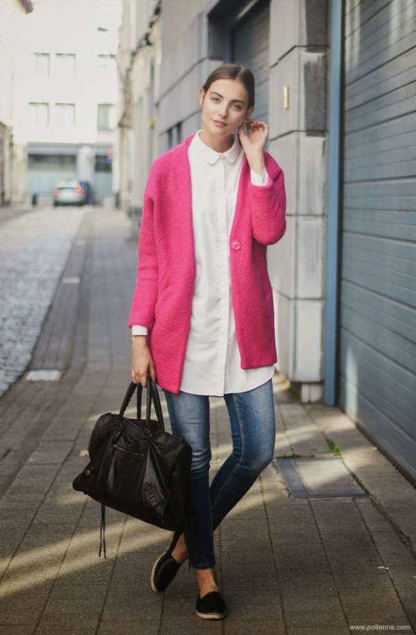 Sugar One Button Placket Coat - OASAP.com