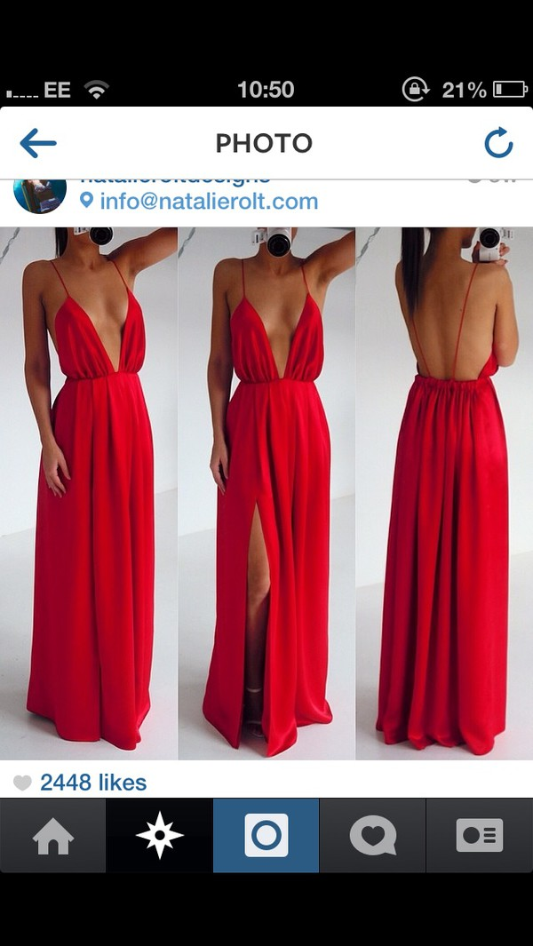 dress red dress strappy prom dress evening dress