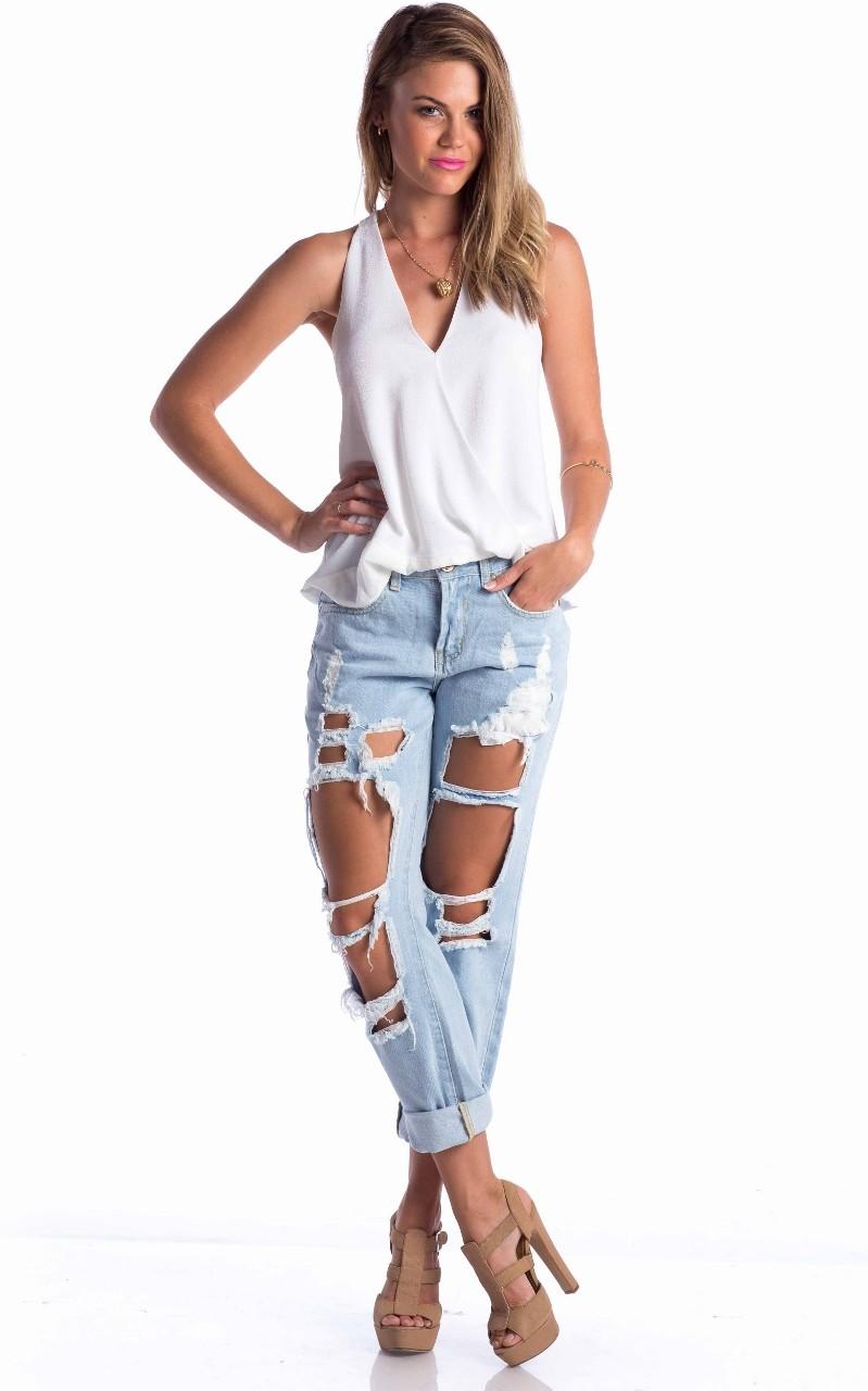boyfriend jeans in blue   SHOWPO Fashion Online Shopping