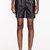 maiyet black leather straight shorts