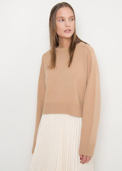 LouLou Studio Cashmere Blend Sweater in Noisette