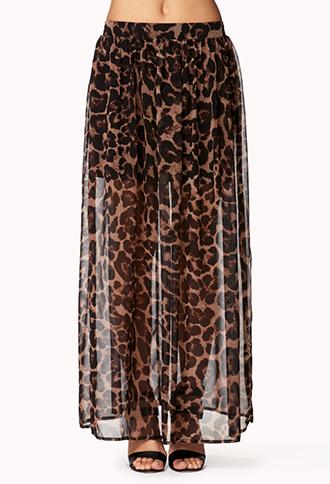 Leopard Print Maxi Skirt | FOREVER 21 - 2046994612