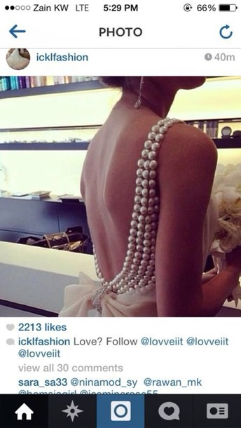 dress pearl evening dress