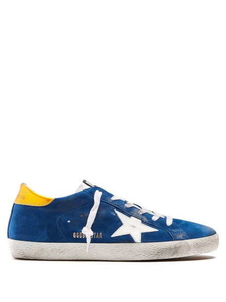 GOLDEN GOOSE DELUXE BRAND top suede white blue