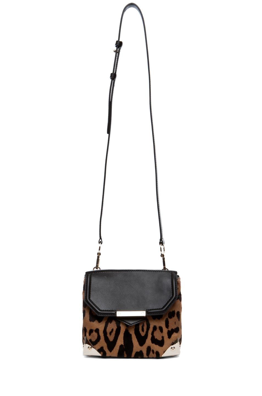 Marion leopard print satchel in natural