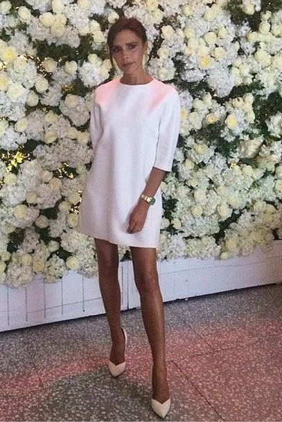Victoria Beckham White Dresses