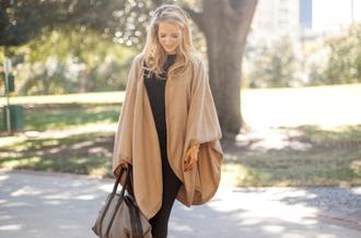 krystal schlegel blogger bag nail polish poncho camel