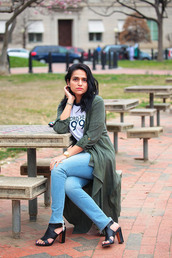 tanvii,blogger,shoes,bag,jewels,green coat,spring outfits