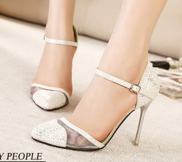 black shoes fashion silver summer women sandals