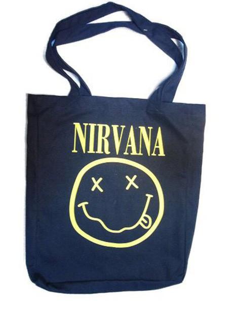 bag black yellow grunge nirvana