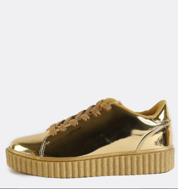 puma creepers gold