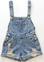 """field trip"" distressed jeans overalls shorts – glamzelle"